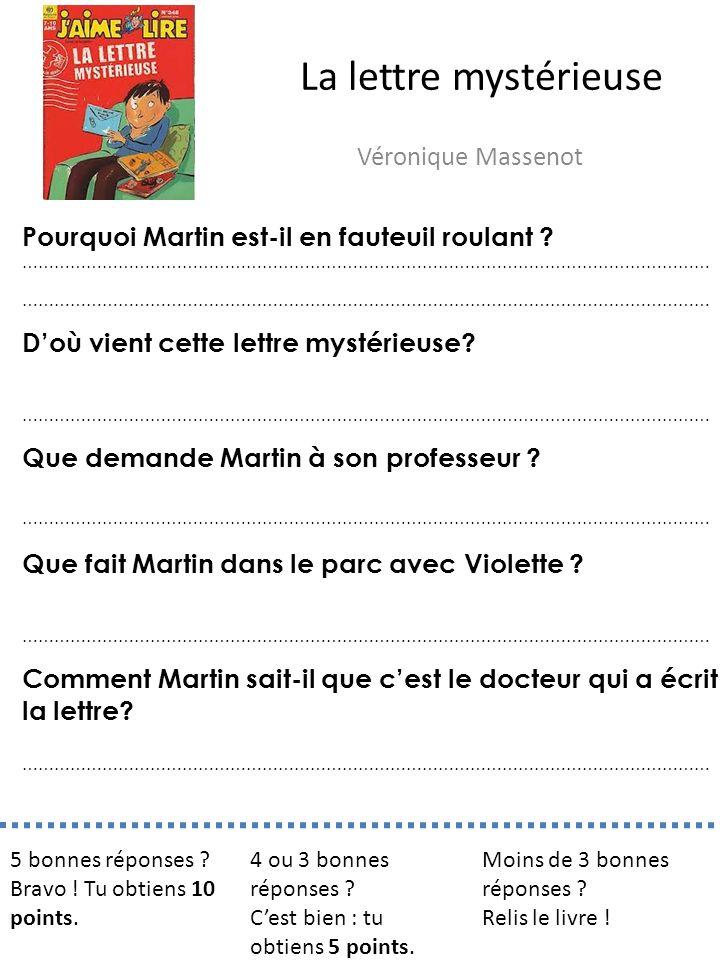 La lettre mystérieuse Véronique Massenot