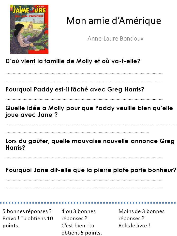 Mon amie d'Amérique Anne-Laure Bondoux