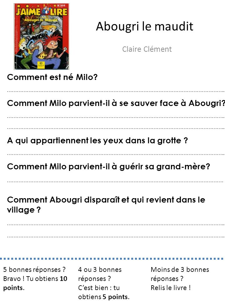 Abougri le maudit Claire Clément Comment est né Milo