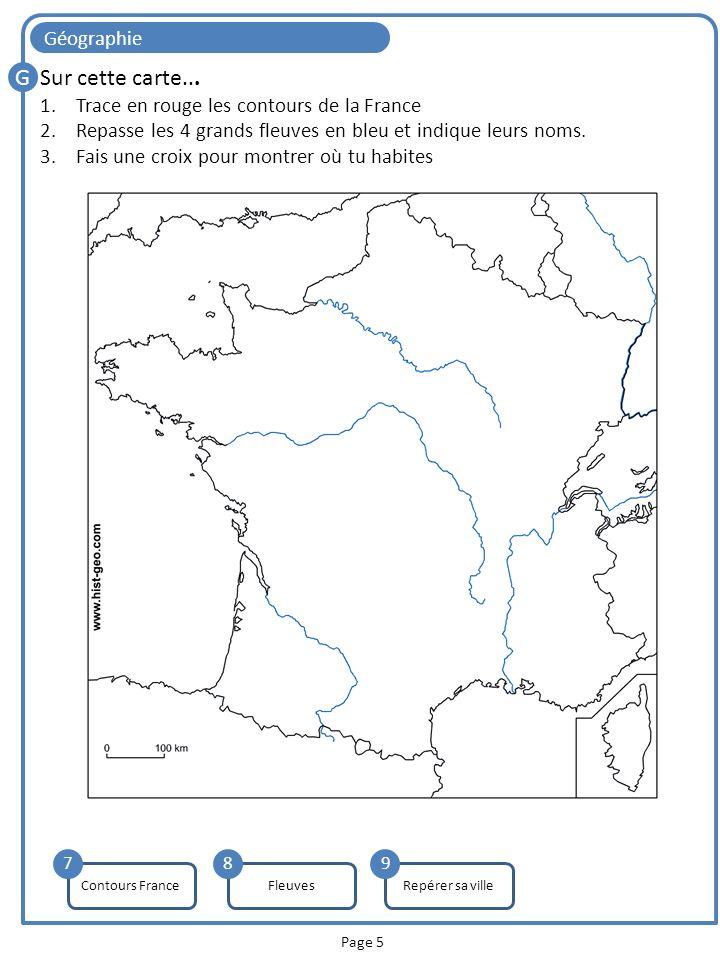 G Sur cette carte... Géographie