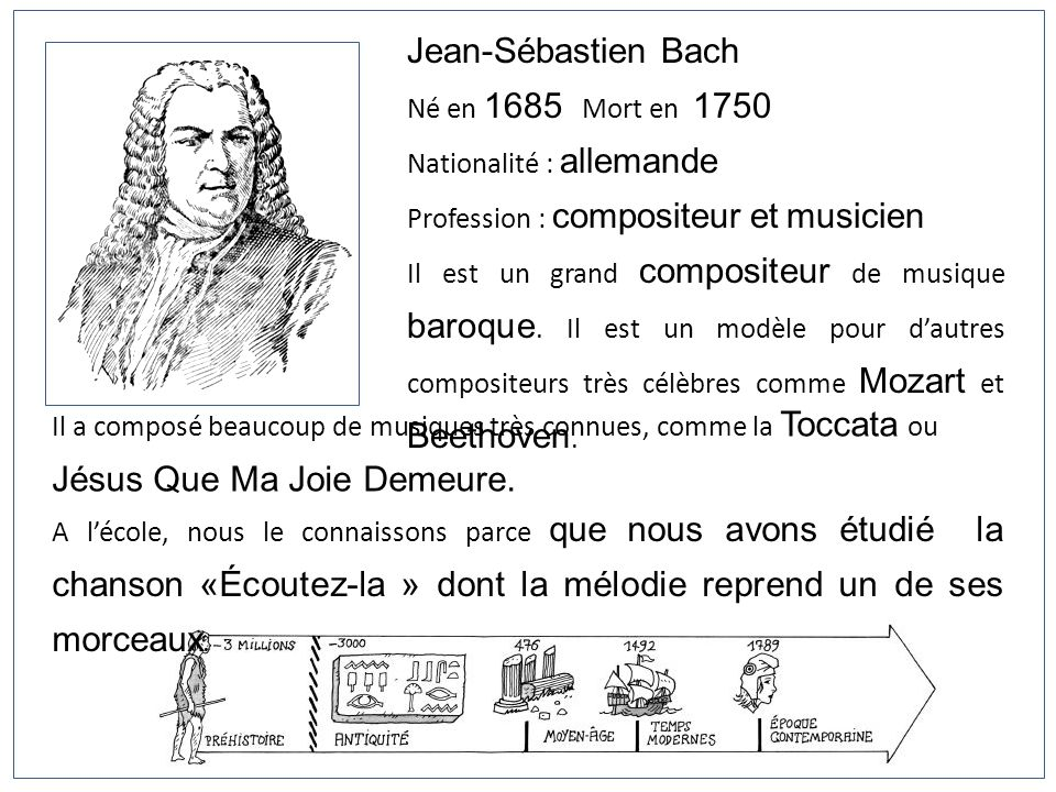 Jean-Sébastien Bach Né en 1685 Mort en 1750 Nationalité : allemande