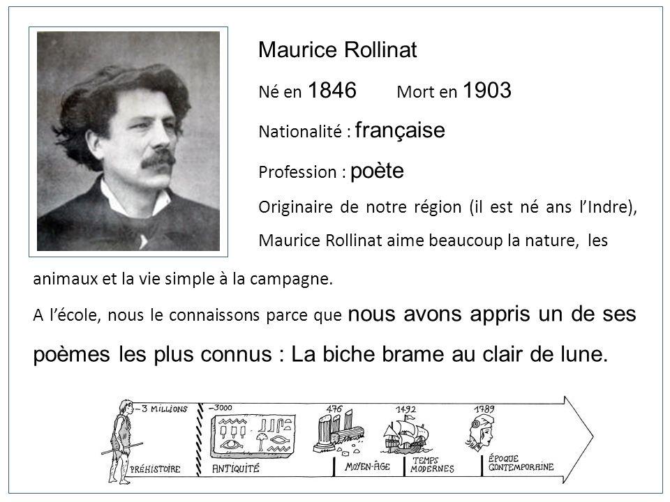 Maurice Rollinat Né en 1846 Mort en 1903 Nationalité : française