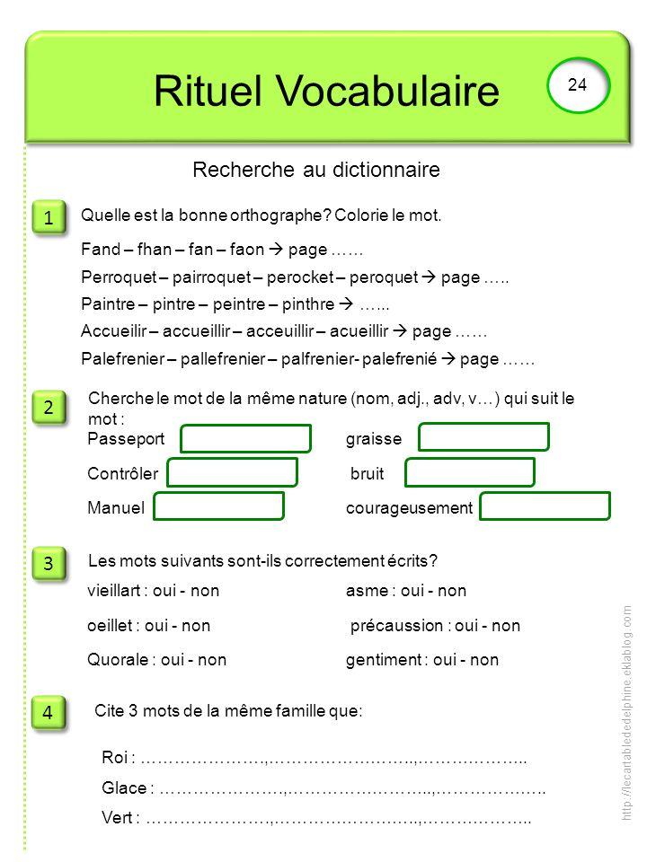 Recherche au dictionnaire