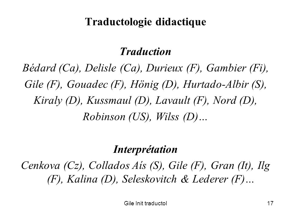 Traductologie didactique