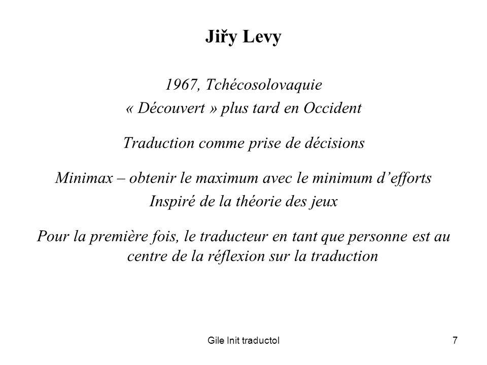 Jiřy Levy 1967, Tchécosolovaquie « Découvert » plus tard en Occident