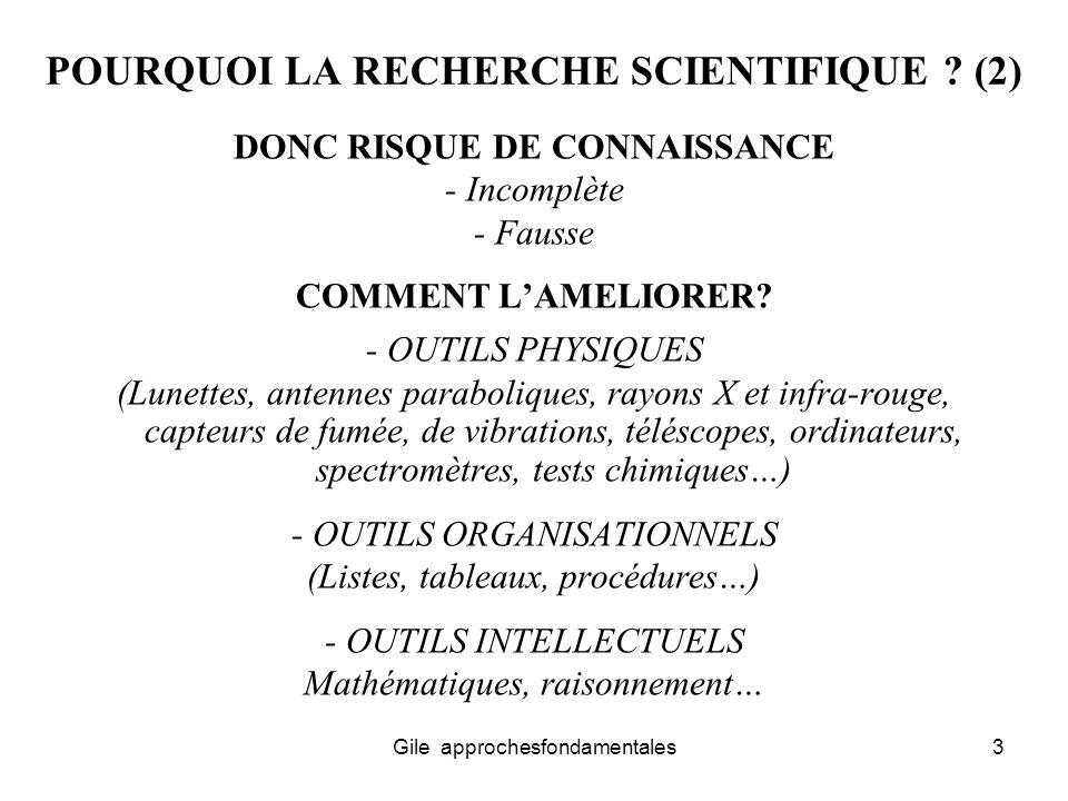 POURQUOI LA RECHERCHE SCIENTIFIQUE (2)