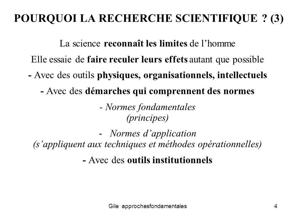 POURQUOI LA RECHERCHE SCIENTIFIQUE (3)