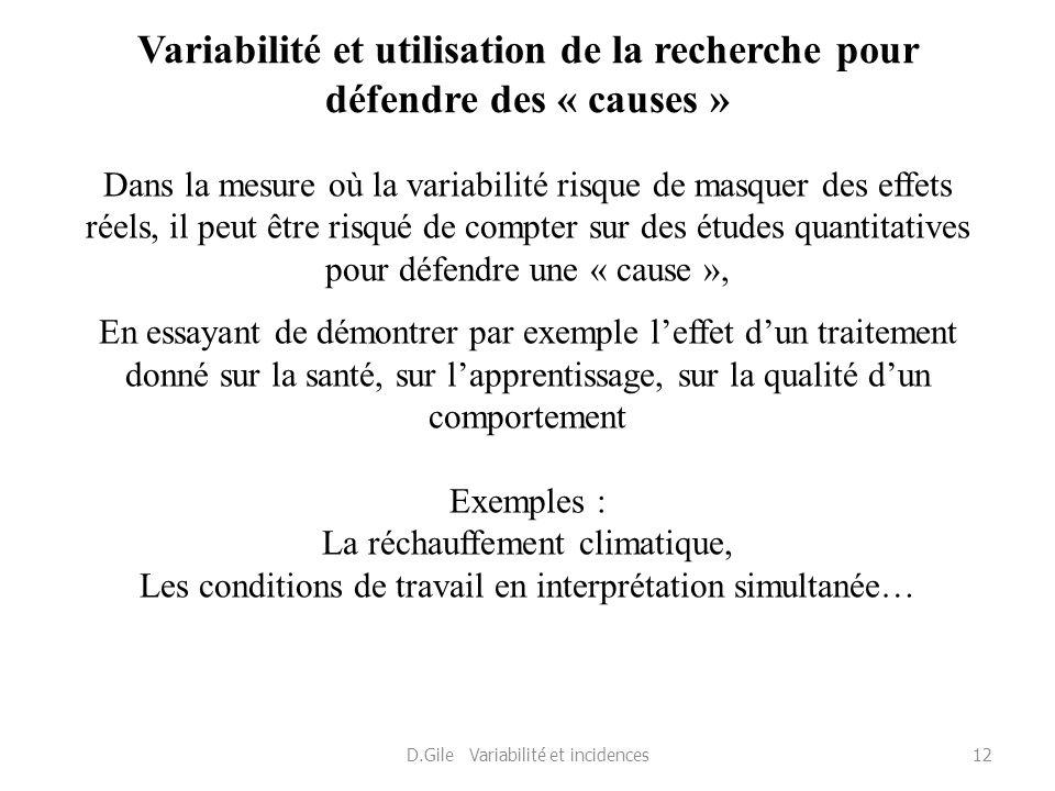 D.Gile Variabilité et incidences