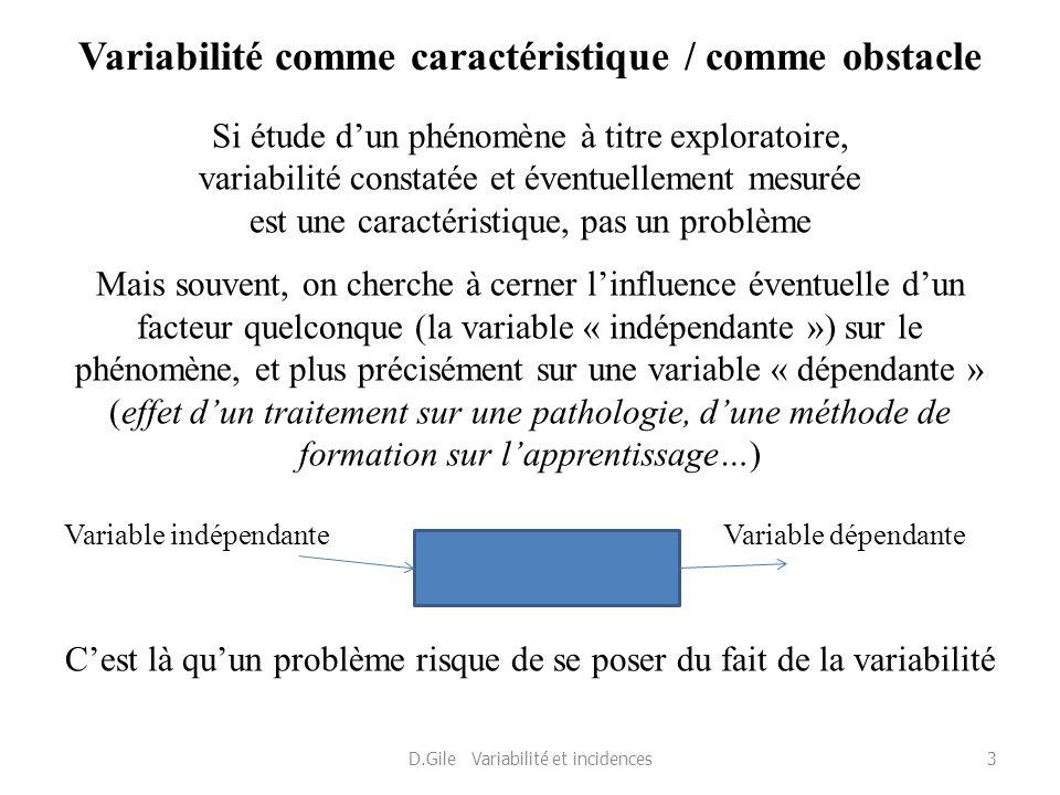 Variabilité comme caractéristique / comme obstacle