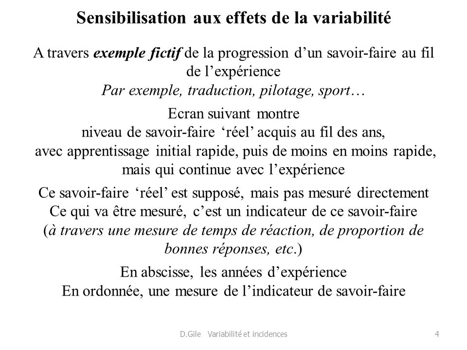 Sensibilisation aux effets de la variabilité