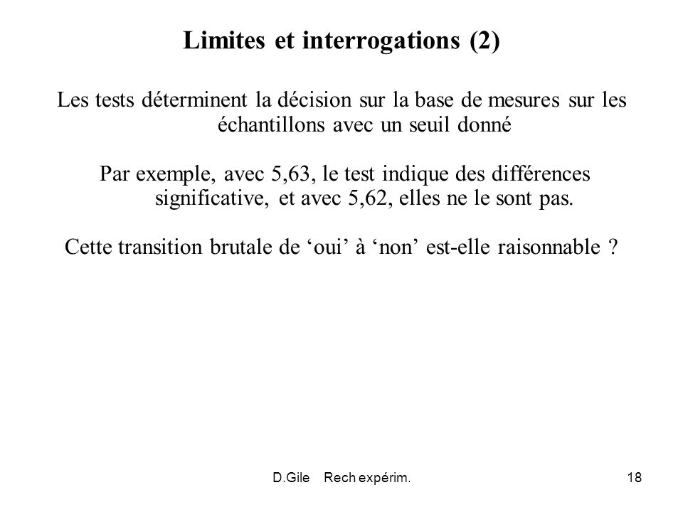 Limites et interrogations (2)