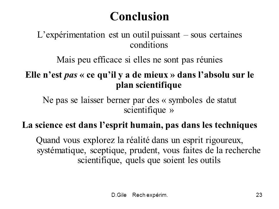 La science est dans l'esprit humain, pas dans les techniques