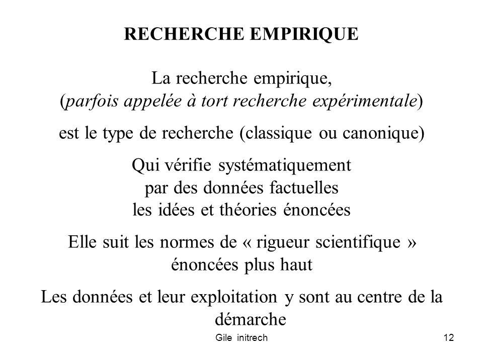 La recherche empirique,