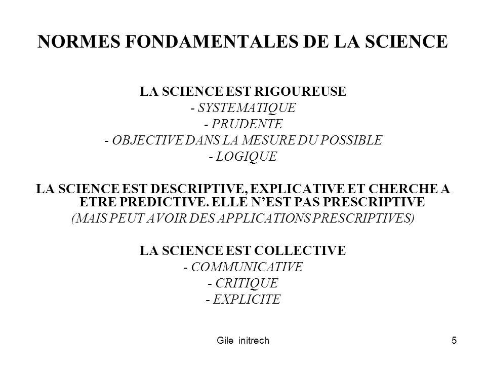 NORMES FONDAMENTALES DE LA SCIENCE