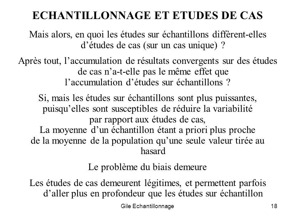 ECHANTILLONNAGE ET ETUDES DE CAS