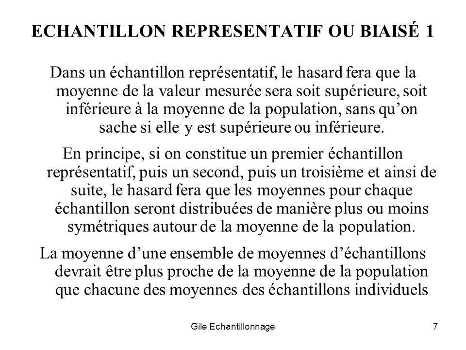 ECHANTILLON REPRESENTATIF OU BIAISÉ 1