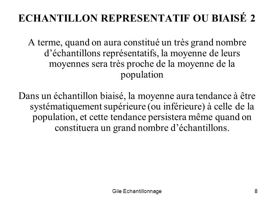 ECHANTILLON REPRESENTATIF OU BIAISÉ 2