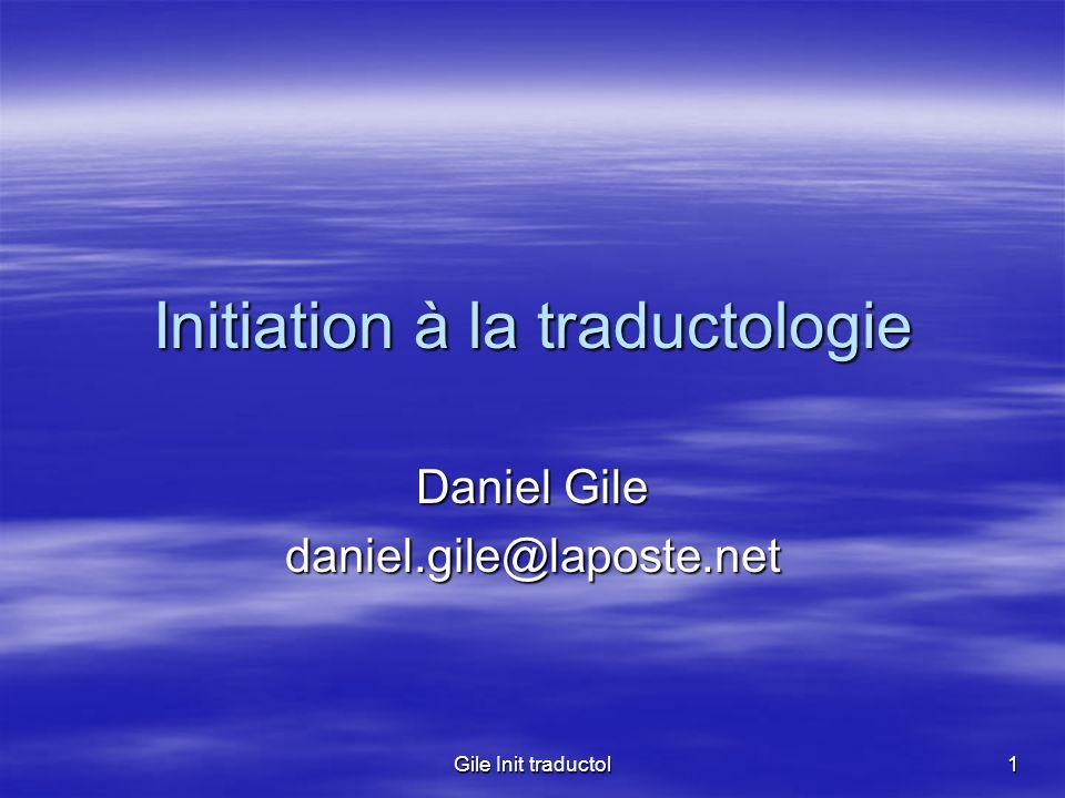 Initiation à la traductologie