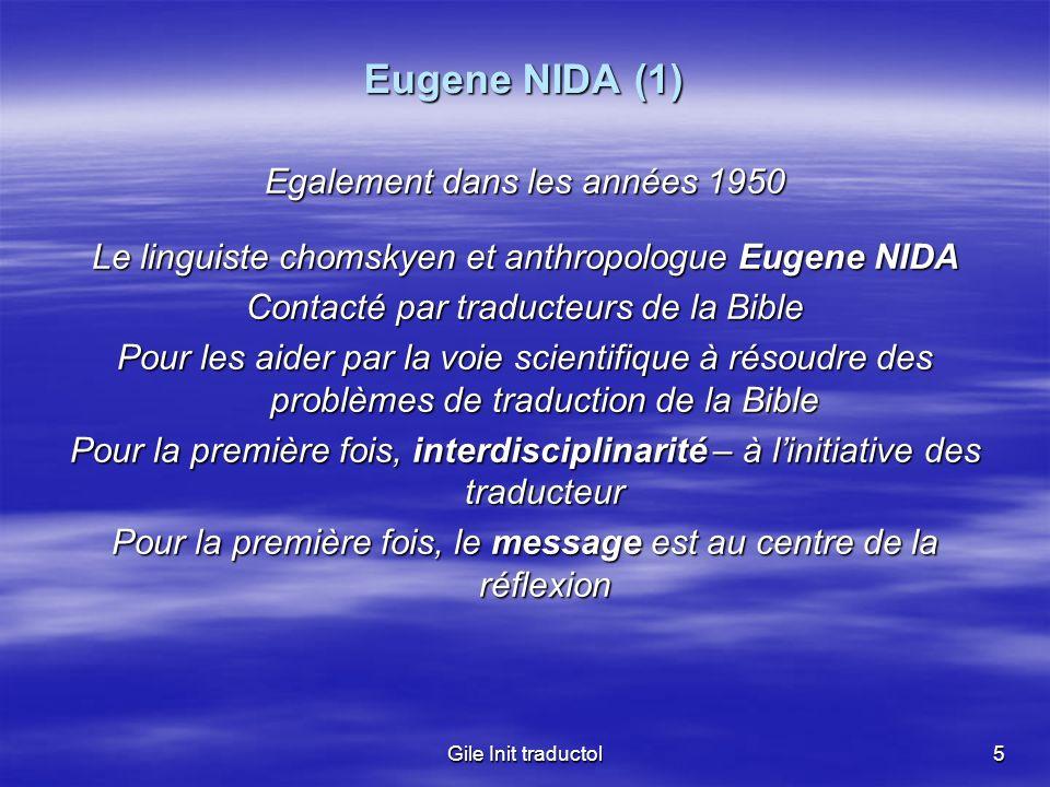 Eugene NIDA (1) Egalement dans les années 1950