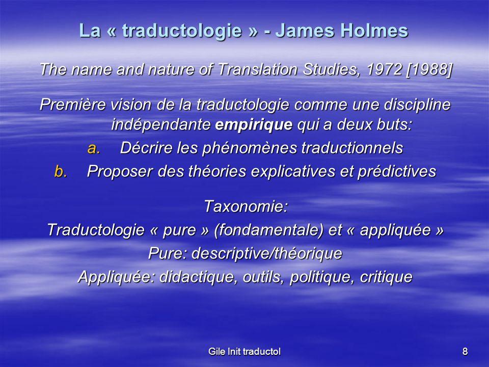 La « traductologie » - James Holmes