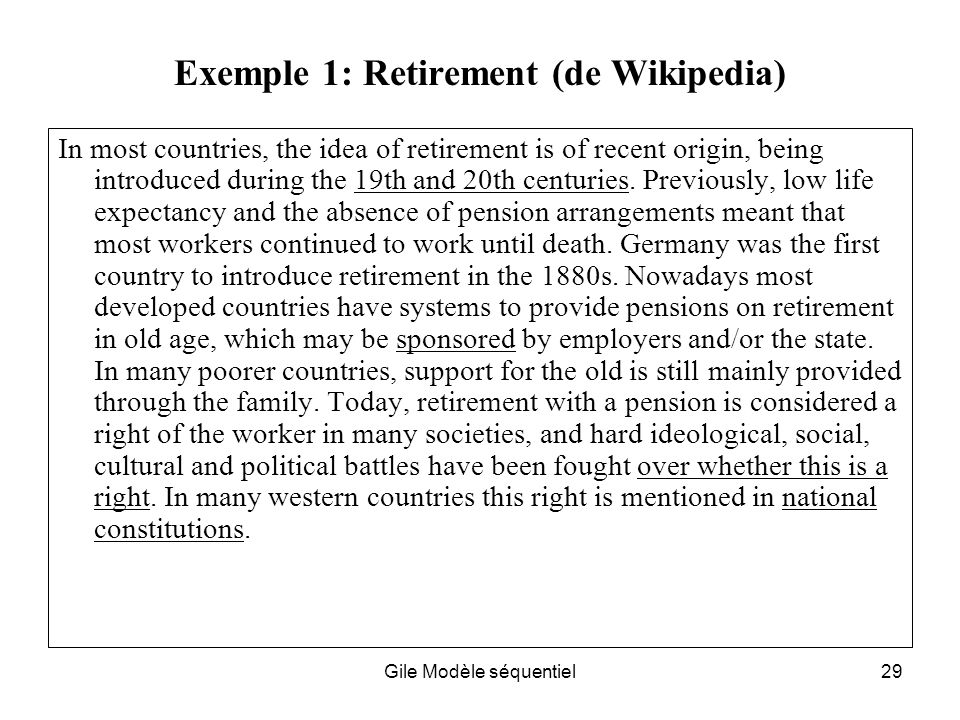 Exemple 1: Retirement (de Wikipedia)