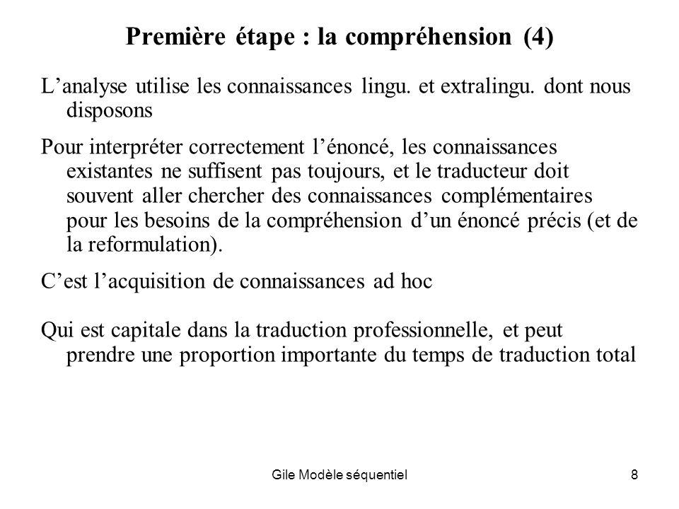 Première étape : la compréhension (4)