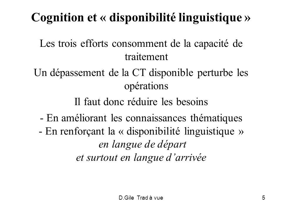 Cognition et « disponibilité linguistique »
