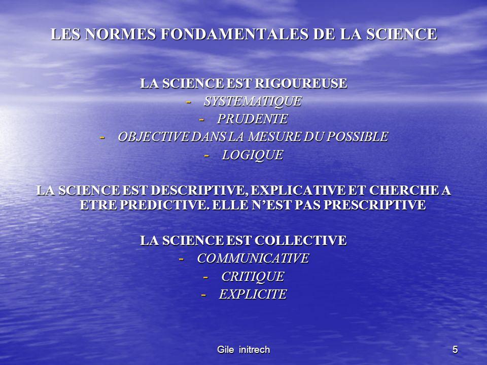 LES NORMES FONDAMENTALES DE LA SCIENCE