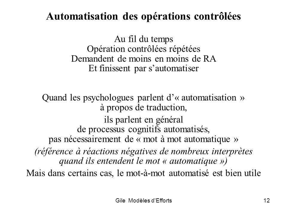 Automatisation des opérations contrôlées