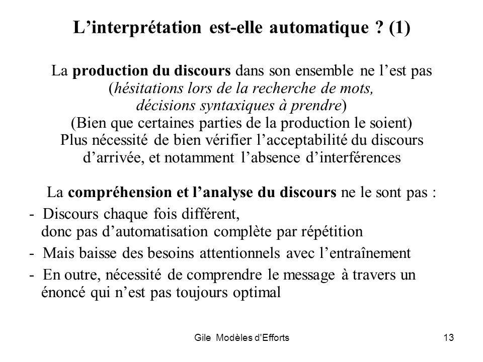 L'interprétation est-elle automatique (1)