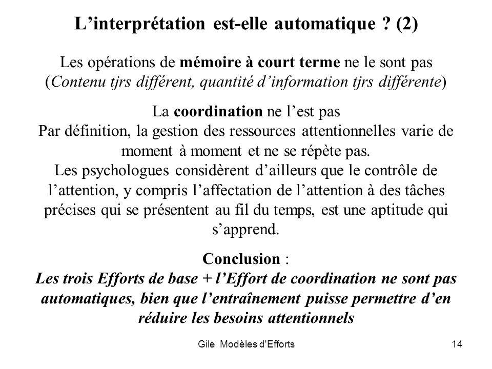 L'interprétation est-elle automatique (2)
