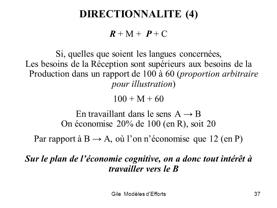 DIRECTIONNALITE (4) R + M + P + C