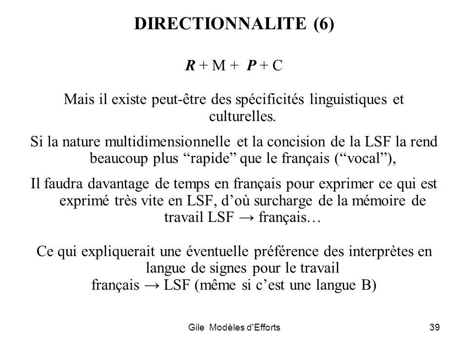 français → LSF (même si c'est une langue B)
