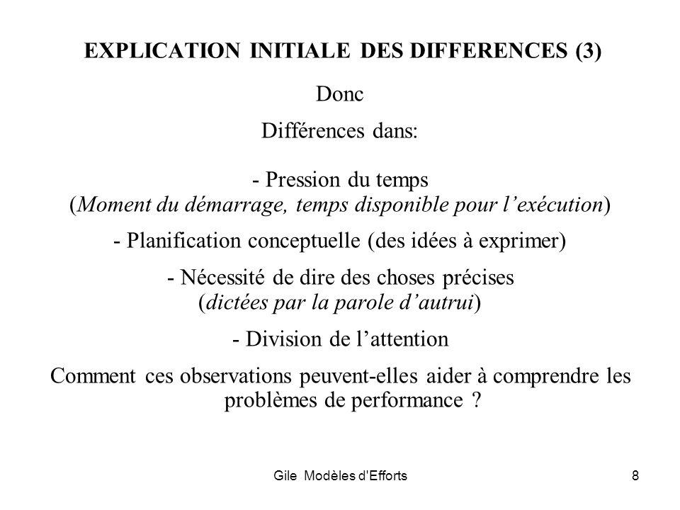 EXPLICATION INITIALE DES DIFFERENCES (3)