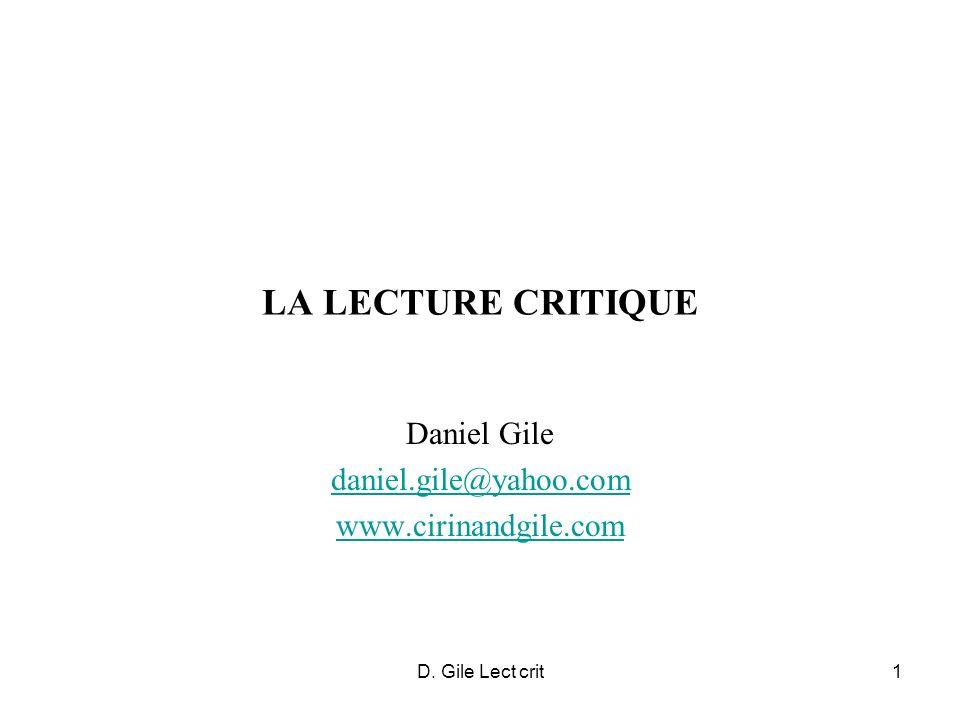 Daniel Gile daniel.gile@yahoo.com www.cirinandgile.com