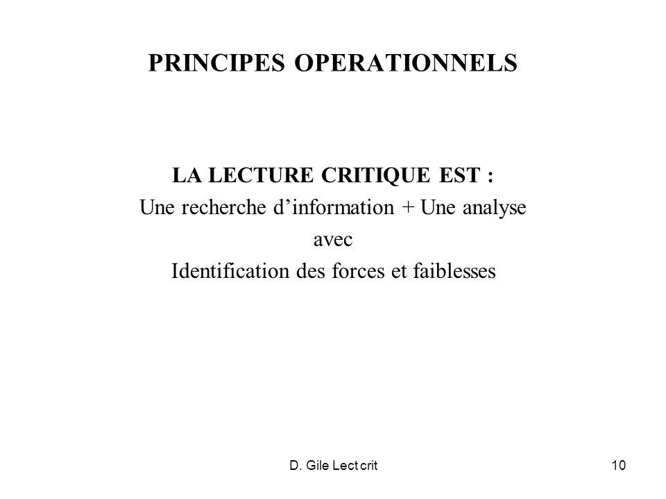 PRINCIPES OPERATIONNELS