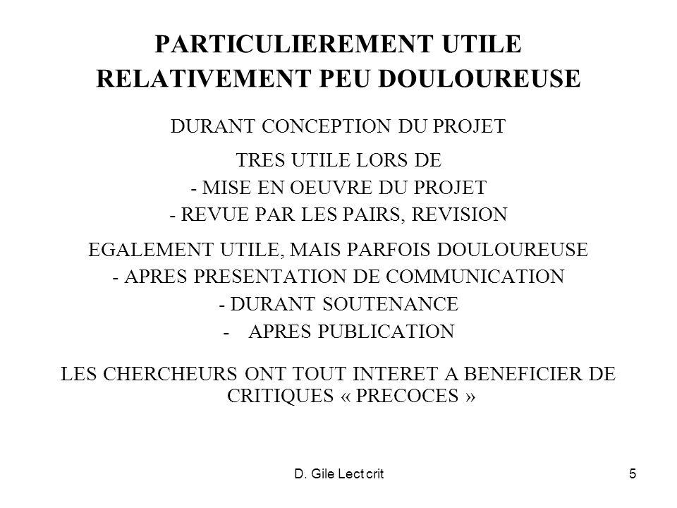 PARTICULIEREMENT UTILE RELATIVEMENT PEU DOULOUREUSE