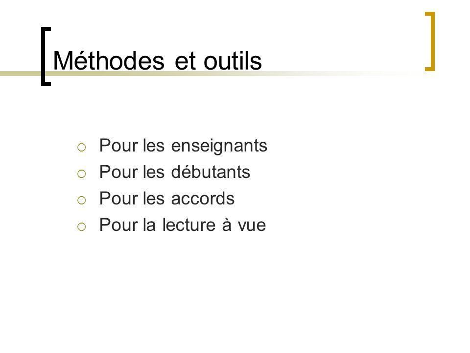 Méthodes et outils Pour les enseignants Pour les débutants