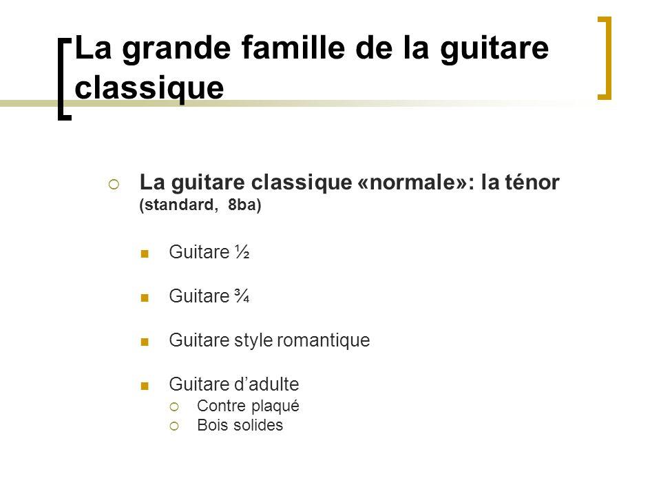 La grande famille de la guitare classique