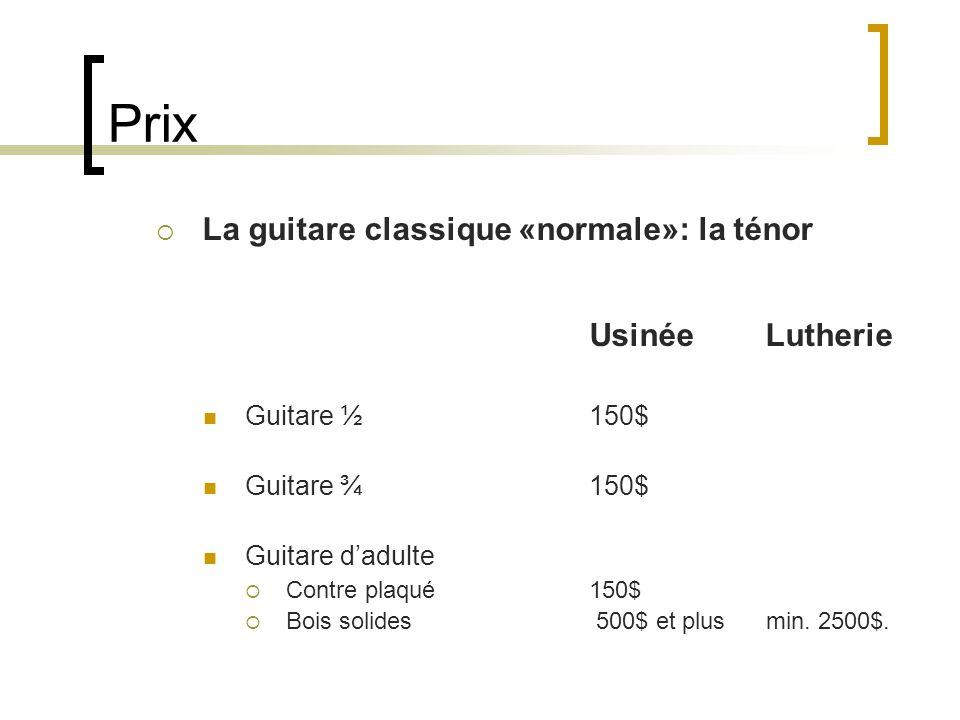 Prix La guitare classique «normale»: la ténor Usinée Lutherie