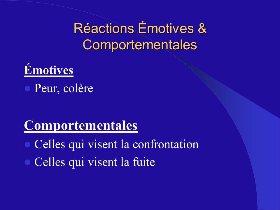 Réactions Émotives & Comportementales