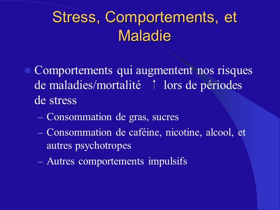 Stress, Comportements, et Maladie