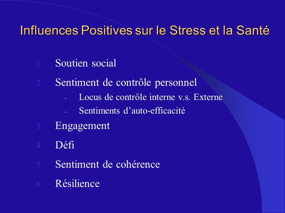 Influences Positives sur le Stress et la Santé