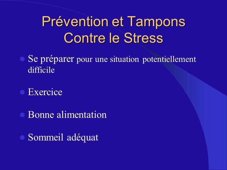 Prévention et Tampons Contre le Stress