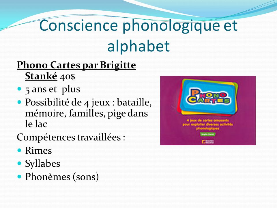 Conscience phonologique et alphabet
