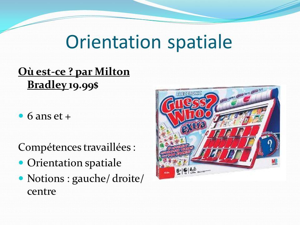 Orientation spatiale Où est-ce par Milton Bradley 19.99$ 6 ans et +