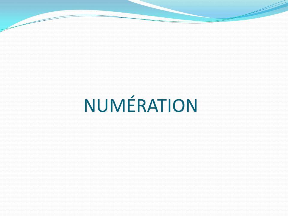 NUMÉRATION