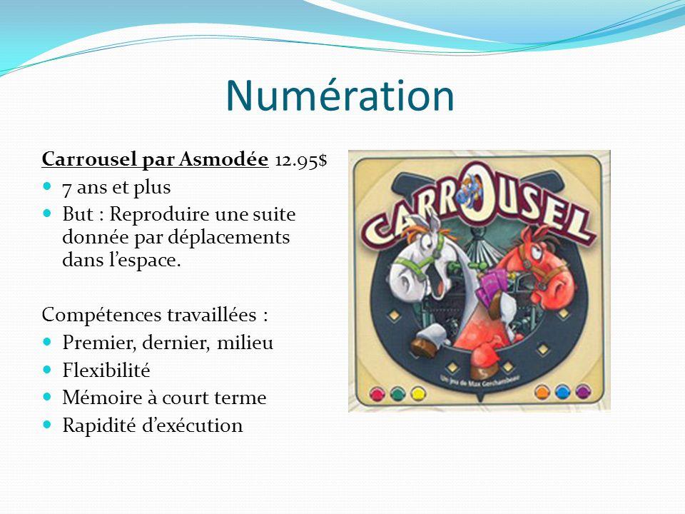 Numération Carrousel par Asmodée 12.95$ 7 ans et plus
