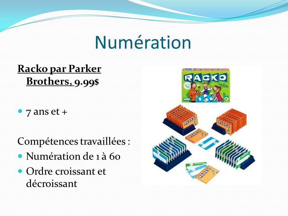 Numération Racko par Parker Brothers, 9.99$ 7 ans et +