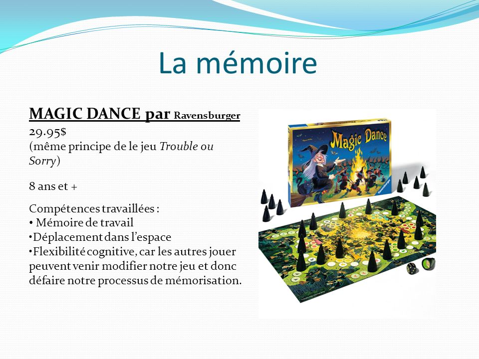 La mémoire MAGIC DANCE par Ravensburger 29.95$